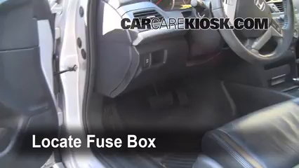 interior fuse box location: 2008-2012 honda accord
