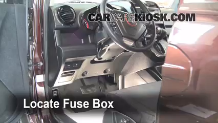 interior fuse box location 2003 2011 honda element 2008 2006 honda element under dash fuse box replace a fuse 2003 2011 honda element