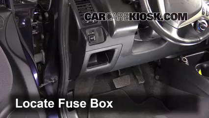 interior fuse box location: 2007-2008 honda fit