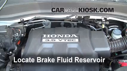 2008 Honda Ridgeline RTL 3.5L V6 Brake Fluid Add Fluid