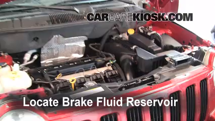 2008 Jeep Compass Sport 2.0L 4 Cyl. Brake Fluid Check Fluid Level