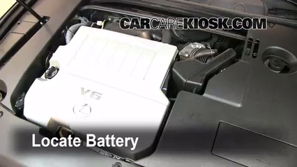 2008 Lexus ES350 3.5L V6 Battery Jumpstart