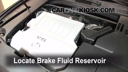 2008 Lexus ES350 3.5L V6 Brake Fluid Add Fluid