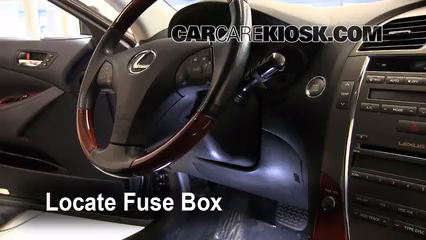 interior fuse box location 2007 2012 lexus es350 2008 lexus es350 2016 Lexus ES 350 locate interior fuse box and remove cover