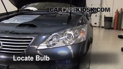 2008 Lexus ES350 3.5L V6 Lights Headlight (replace bulb)