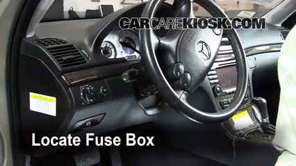 Interior Fuse Box Location: 2003-2009 Mercedes-Benz E350 - 2008 ...