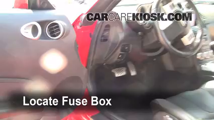 interior fuse box location 2003 2009 nissan 350z 2008 nissan 350z rh carcarekiosk com 2003 nissan 350z fuse box diagram 2006 Nissan Sentra Fuse Box Location