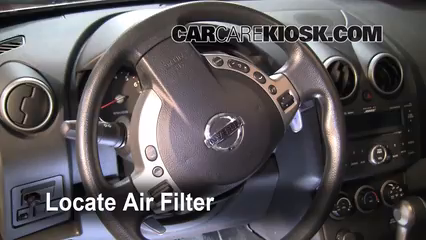 2008 Nissan Rogue SL 2.5L 4 Cyl. Air Filter (Cabin) Check