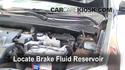 2008 Nissan Sentra S 2.0L 4 Cyl. Brake Fluid Add Fluid