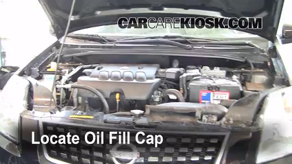 2008 Nissan Sentra S 2.0L 4 Cyl. Oil Add Oil