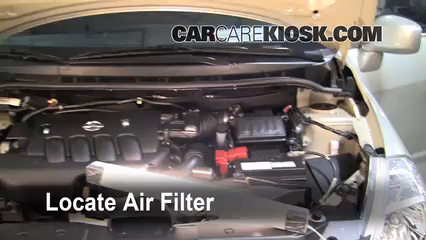 air filter how-to: 2007-2012 nissan versa - 2008 nissan ... nissan 240sx fuel filter location