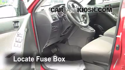 interior fuse box location 2003 2008 pontiac vibe 2008 pontiac on 1995 Pontiac Grand AM Fuse Box Location 2004 Jeep Grand Cherokee Fuse Box Location for locate interior fuse box and remove cover