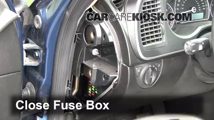 Interior Fuse Box Location: 2008-2011 Saab 9-3 - 2008 Saab 9-3 2.0T ...
