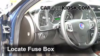 interior fuse box location: 2008-2011 saab 9-3