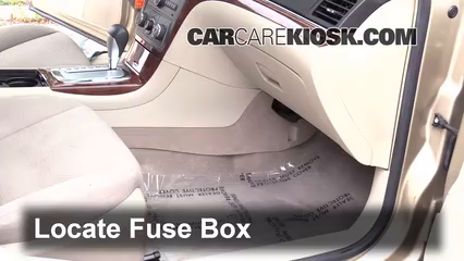interior fuse box location: 2007-2009 saturn aura