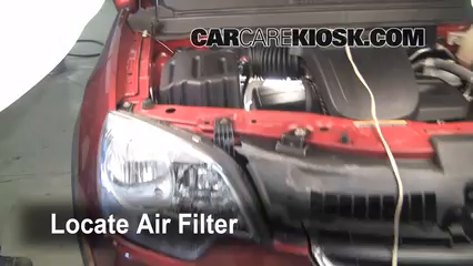 2008 Saturn Vue XE 2.4L 4 Cyl. Air Filter (Engine) Replace