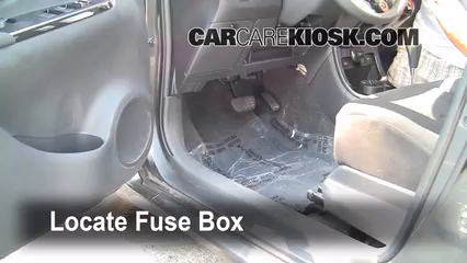 Interior Fuse Box Location: 2008-2014 Scion xD - 2008 Scion xD 1.8L ...
