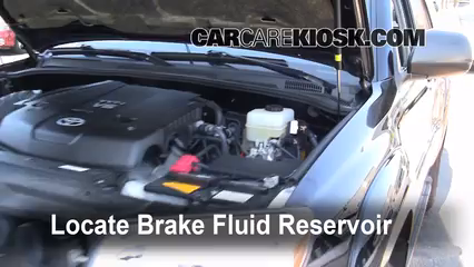 2008 Toyota 4Runner SR5 4.0L V6 Brake Fluid Add Fluid