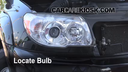 2008 Toyota 4Runner SR5 4.0L V6 Lights Headlight (replace bulb)