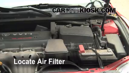 2008 Toyota Camry LE 2.4L 4 Cyl. Air Filter (Engine) Replace