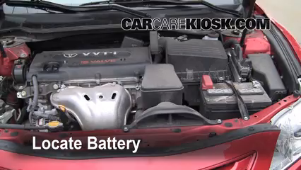 2008 Toyota Camry LE 2.4L 4 Cyl. Battery Replace