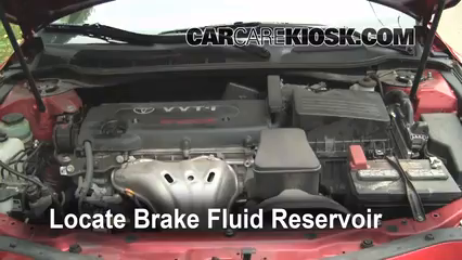 2008 Toyota Camry LE 2.4L 4 Cyl. Brake Fluid Check Fluid Level