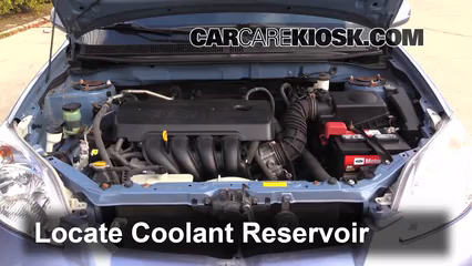 2008 Toyota Matrix XR 1.8L 4 Cyl. Coolant (Antifreeze) Check Coolant Level