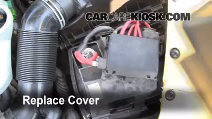 How To Jumpstart A 20062010 Volkswagen Beetle 2008. 6 Replace Cover Ensure The Is Put Back Properly. Wiring. 2008 Beetle 2 5l Engine Diagram At Scoala.co