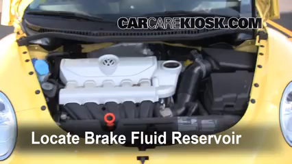 2008 Volkswagen Beetle S 2.5L 5 Cyl. Hatchback Brake Fluid Check Fluid Level
