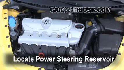 Check Power Steering Level Volkswagen Beetle 20062010 2008. 2008 Volkswagen Beetle S 25l 5 Cyl Hatchback Fluid Leaks Power Steering. Wiring. 2008 Beetle 2 5l Engine Diagram At Scoala.co