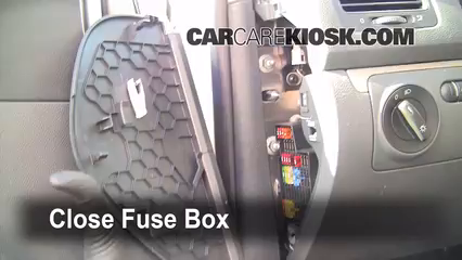 interior fuse box location: 2006-2009 volkswagen rabbit - 2008 volkswagen  rabbit s 2 5l 5 cyl  (2 door)