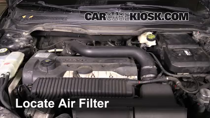 2008 Volvo C70 T5 2.5L 5 Cyl. Turbo Air Filter (Engine) Replace
