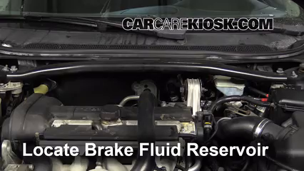 2008 Volvo S60 2.5T 2.5L 5 Cyl. Turbo Brake Fluid Check Fluid Level