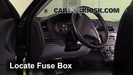 interior fuse box location: 2001-2009 volvo s60