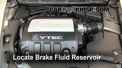2008 Acura RL 3.5L V6 Brake Fluid Check Fluid Level