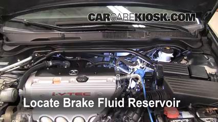 2008 Acura TSX 2.4L 4 Cyl. Brake Fluid