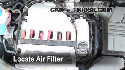 2008 Audi A3 Quattro 3.2L V6 Air Filter (Engine)