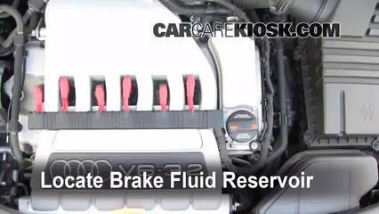 2008 Audi A3 Quattro 3.2L V6 Brake Fluid
