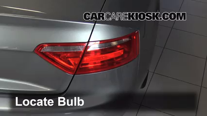2008 Audi S5 4.2L V8 Luces Luz trasera (reemplazar foco)