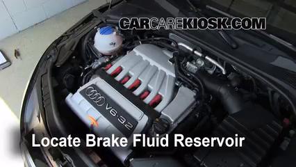 2008 Audi TT Quattro 3.2L V6 Coupe Brake Fluid