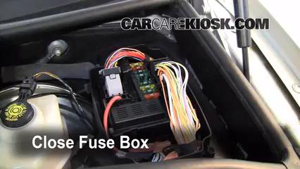 Replace a Fuse: 2004-2010 BMW X3 - 2008 BMW X3 3.0si 3.0L 6 Cyl.   2008 Bmw X3 Fuse Box Location      CarCareKiosk