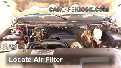 2008 Chevrolet Silverado 2500 HD LT 6.0L V8 Crew Cab Pickup (4 Door) Air Filter (Engine)