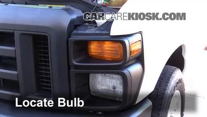 2008 Ford E-350 Super Duty 6.0L V8 Turbo Diesel Extended Cargo Van (3 Door) Luces Luz de giro delantera (reemplazar foco)