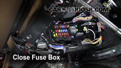 interior fuse box location: 2008-2009 ford taurus x - 2008 ford taurus x  limited 3.5l v6  carcarekiosk