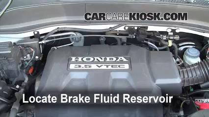 2008 Honda Ridgeline RTL 3.5L V6 Líquido de frenos Agregar fluido