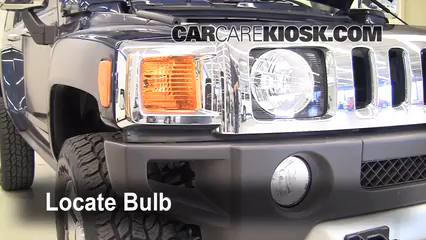 2008 Hummer H3 3.7L 5 Cyl. Luces Luz de carretera (reemplazar foco)