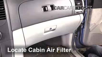 2008 Hyundai Entourage GLS 3.8L V6 Filtre à air (intérieur)
