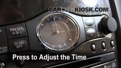 2008 Infiniti EX35 Journey 3.5L V6 Horloge