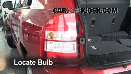 2008 Jeep Compass Sport 2.0L 4 Cyl. Lights Turn Signal - Rear (replace bulb)