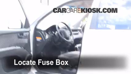Interior Fuse Box Location: 2005-2010 Kia Sportage - 2008 Kia Sportage LX  2.0L 4 Cyl.CarCareKiosk